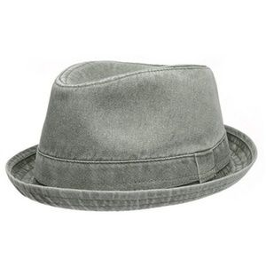 Other - Men's Distressed Olive Fedora Style Hat